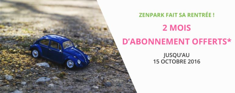Offre rentrée Zenpark parkings